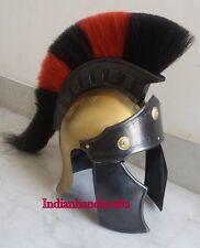 Greeco Roman Authentic Armor Helmet with RED BLACK Plume Replica SCA costume