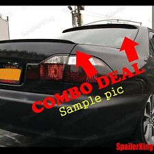 COMBO Spoilers (Fits: Saab 9-5 1999-2011 4dr) Rear Roof Wing & Trunk Lip