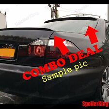 COMBO Spoilers (Fits: Hyundai Genesis 2009-14 4dr) Rear Roof Wing & Trunk Lip
