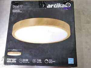 Dryad 15 in. 1-Light Wood LED Flush Mount by Artika