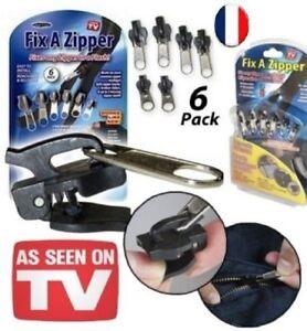 Kit de 6 zipper réparation fermeture éclair Vendeur Français