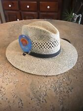 a4af883143a NEW! Stetson Straw Hat UPF 50+ Protection Camouflage Trim Small