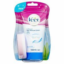 Veet In-Shower Hair Removal Cream for Sensitive Skin, 150 ml pack of 2