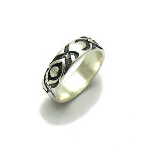 Echte Sterling Silber Ring Band solide punziert 925 handgefertigt Empress