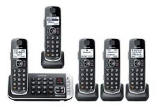 Panasonic HD Link2Cell Cordless Phone System KX-TGE675 5 Handsets Answering More