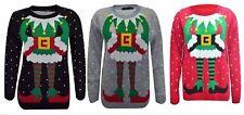 Neue Damen Langarm Weihnachten Unisex Pullover Retro Neuheit Vintage Jumper