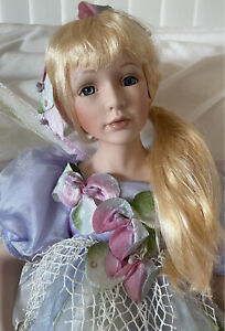Large, Tall Vintage, Fine Bisque Porcelain Doll, Fairy, Butterfly, 58cm