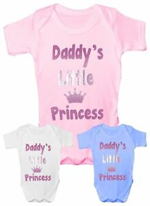 Daddy's Little Princess Funny Babygrow Vest Baby Clothing Gift