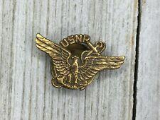 Vintage Usnr Navy Eagle & Anchor Lapel Pin Button Cover