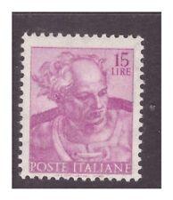 1961 -  MICHELANGIOLESCA  15  LIRE  -  STAMPA EVANESCENTE CERTIFICATO  RAY   **