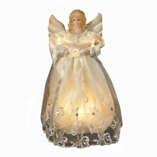 10 Inch Light Up Christmas Tree Topper Decoration Gold Angel Treetop Decor Top