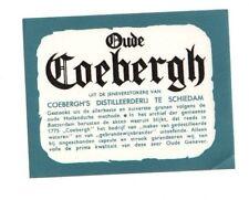 Netherlands - Jenever Label - Coebergh's, Scheidam - Oude Coebergh