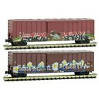 Z Scale - MICRO-TRAINS LINE 510 44 245 BIRDS OF A FEATHER Weathered 2 Car Pack