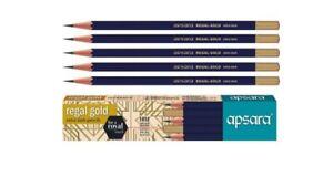 50 Apsara REGAL GOLD Pencil | free sharpener & eraser | smooth and easy writing
