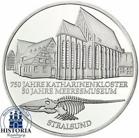 BRD 10 DM Meeresmuseum Stralsund 2001 Silber Stempelglanz Münze in Münzkapsel