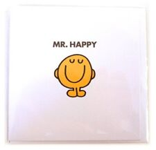 Mr Happy Blank Greeting Card by Hype Associates