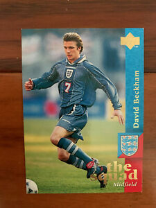 1997 Upper Deck England Soccer Card DAVID BECKHAM TRUE REAL ROOKIE Near Mint 13