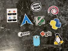Stickers Unix / Informatique - Bash Git Debian Python