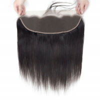 13x4 Pre Plucked Natural Hairline Bleached Knots Lace Frontal Straight Closure