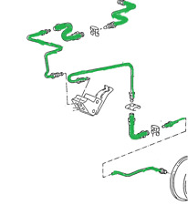 Bremsleitungssatz Satz Bremsleitungen + Bremsschläuche Polo 86C hinten Trommel