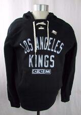 Los Angeles Kings NHL Black Men's CCM Pullover Laced Hoodie