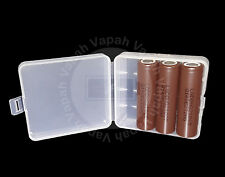 3 LG (Brown) HG2 18650F HIGH DRAIN 3000mAh 20A Rechargeable Battery / Clear Case