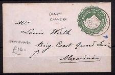 AU50 c1912 Egypt Postal Stationery *COAST GUARD SERVICE* Cover {samwells}PTS