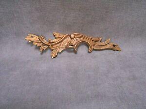 French Antique Bronze ROCOCO PLAQUE finial