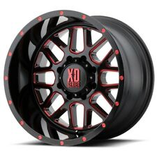 20 Inch Black Red Wheels Rims LIFTED Ford F 250 F 350 8x6.5 Lug XD820 20x10 NEW