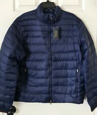 $228 NWT Mens Polo Ralph Lauren Packable Quilted Down Puffer Jacket Coat Navy
