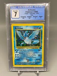 1999 Pokemon - CGC 7 - Articuno - Fossil - Unlimited - 2/62 - Holo