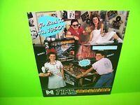 Data East TIME MACHINE 1988 Original NOS Flipper Game Pinball Machine Sale Flyer