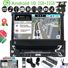 Android 10.0 Single 1DIN Car CD DVD Player GPS Navi Touch Stereo Radio DAB 7