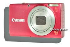 CANON A4000 IS RED-MECHANICALLY RECONDITIONED-8X ZOOM -LONG LASTING BATTERY