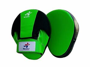 Master Sports Curved Focus Pads Hook & Jab Mitts Boxing MMA Punch Bag Kick Thai
