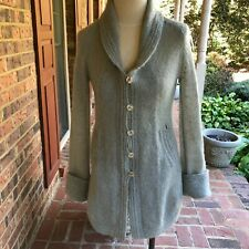 New listing Vintage Women'S Hand Knit Sweater Coat Wool Light Gray Knit Coat Size Small