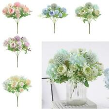 Realistic Peony 7-Head Artificial Fake Flowers Bouquet Wedding Party Decors