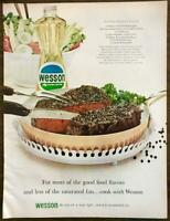1964 Wesson Oil Print Ad More Good Food Flavors Pepper Steak Recipe