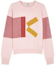 Kenzo Womens K Intarsia Detailed Wool Blend Crewneck Sweater Size Xs