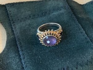 BARBERA BIXBY  STERLING AND 18KT GOLD RING