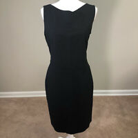 Hugo Boss Black Business Dress US SZ 8 Sleeveless Virgin Wool