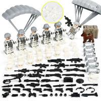 WWII Soldiers MiniFigures Military US Ski British Snow Army WW2 Toy Set Fit Lego