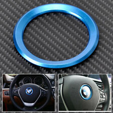 Blue AUTO DECORATIVE ACCESSORIES Steering Wheel Center Decoration Ring For BMW