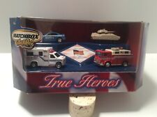 Matchbox Salutes True American Heroes Fire Truck, Ambulance, Police Car, Tank
