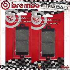 4 PLAQUETTES FREIN AVANT BREMBO CARBON CERAMIC 07019 GILERA FUOCO 500 2012