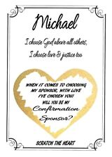 Personalised Will You Be My Confirmation Sponsor Scratch Off Card Design 2