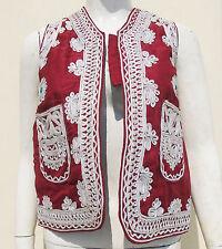 Kuchi Afghan Vintage Ethnic Boho Hippy Waistcoat Ladies Embroidery Vest KWC-54