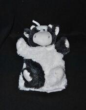 Peluche doudou marionnette vache DRESSLER & ZIMMERHACKL blanc gris TTBE