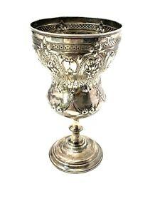 Fantastic Antique Victorian C1878 Solid Silver Goblet Chalice Heavy 420g #1253