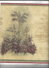 WALLPAPER BORDER TROPICAL PALM TREE BUILDINGS NEW ARRIVAL PLANTS TREES